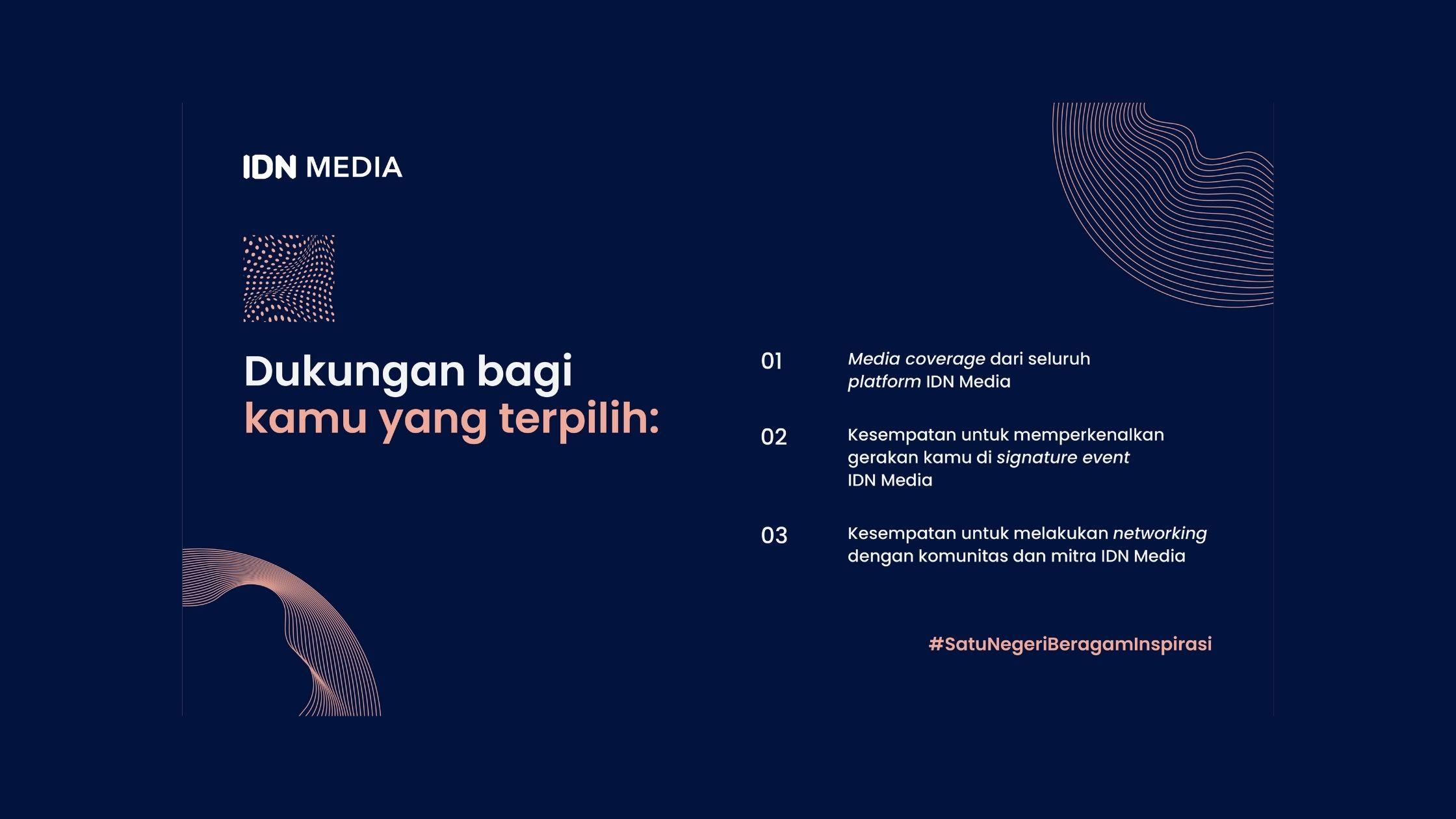 IDN Media Adakan Program Pahlawan IDN untuk Apresiasi Sosok Inspiratif
