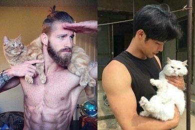 Pria Pelihara Kucing, Tidak Macho 11 Foto ini Membuktikan Sebaliknya