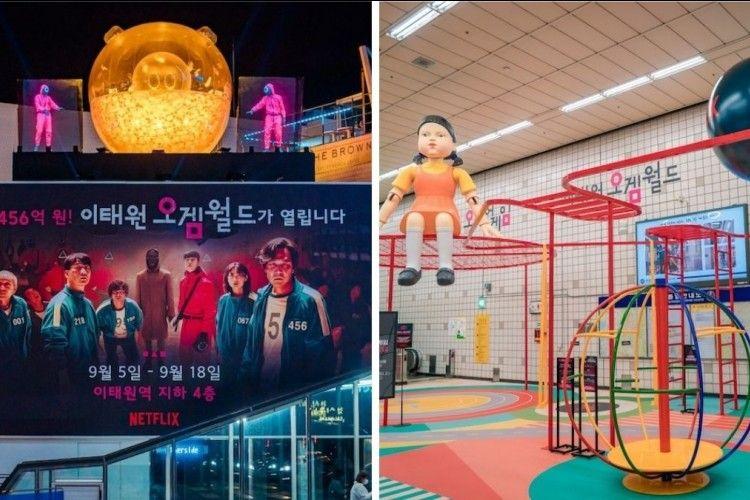 10 Potret Stasiun Kereta Itaewon yang Disulap Menjadi 'Squid Game'!