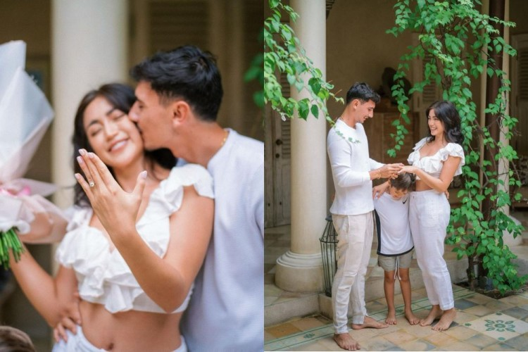 9 Potret Romantis Jessica Iskandar Saat Dilamar Vincent Verhaag