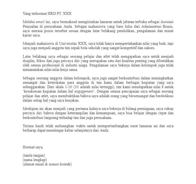 Para Fresh Graduate, Inilah 9 Contoh Cover Letter yang Dilirik HRD